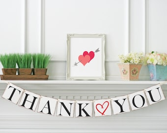 Thank You Banner - Modern Thank You Garland - Thank You Sign - Wedding Sign - Wedding Banner