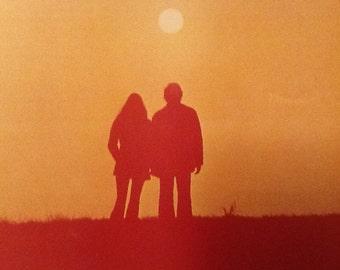 Let It Be Vintage 70's Poster wonderful bright orange Colour