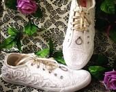 Pop the question handmade wedding shoes