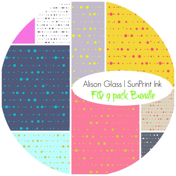 Sun Print Ink by Alison Glass for Andover - FQ 9 pack {In Stock} Bundle | Quilting, Sewing, Home Decor supplies