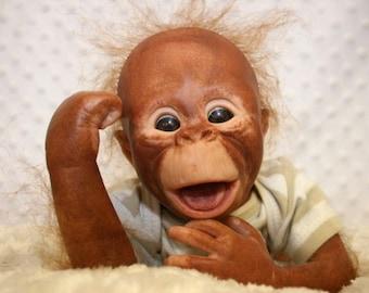 Reborn orangutan( mouth open)