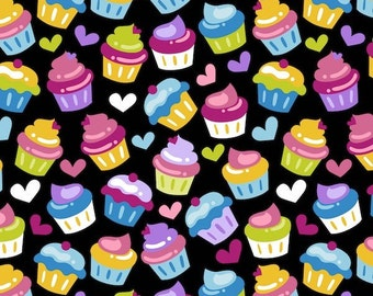 New !!On Sale!!!!Cupcakes  Fleece Fabric by the yard...
