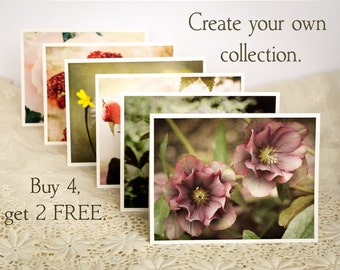 Flower Photo Notecard Set - Floral Photography Greeting Card Set - Custom Set of Note Cards - Nature Photos - Holiday Gift Ideas