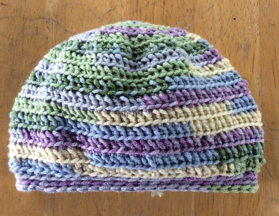 Toddler Slouchy Hat- crocheted hat