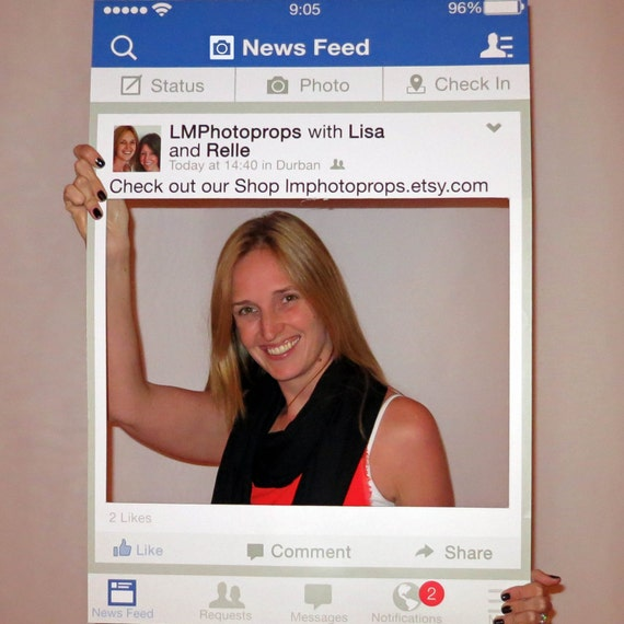 Facebook Style Photo Prop Frame Large Booth By
