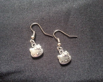 Cat Face Earrings, Kitty Earrings