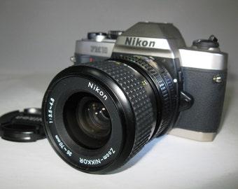 Nikon FM10 35mm Student Camera with Nikon Nikkor 35~70 Lens - Film Tested -