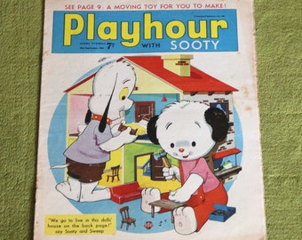 Gorgeous Vintage Sooty Newspaper Comic 24th September 1966