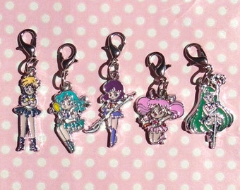 Cute Sailor Moon outer senshi charms