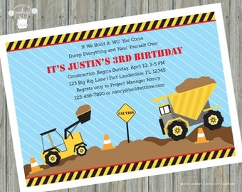 Big Rig Birthday Party Invitation