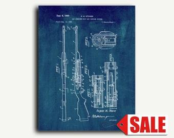 Patent Print - AR-10 Rifle Patent Wall Art Poster