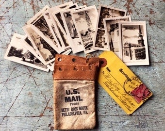 Antique Souvenir Photograph Collection In Mini Mailpouch • free shipping • 25% OFF EVERYTHING! promo code: GRATITUDE