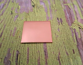 Copper 1 inch Square Stamping Blanks - Copper Blanks