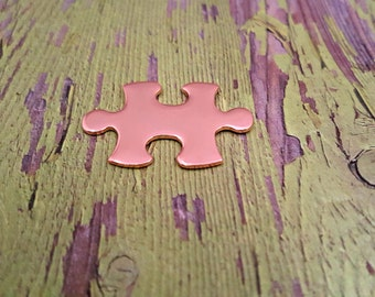 Copper Puzzle Piece Stamping Blanks - 18 Gauge Copper Blanks