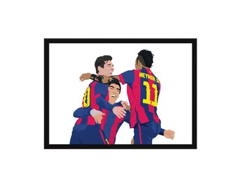 Lionel Messi, Luis Suarez and Neymar Jr A3 Poster: 297mmx420mm Barcelona, Barca, Spain, Football, Soccer, Xavi, Iniesta, Ronaldo, Bale, BCF