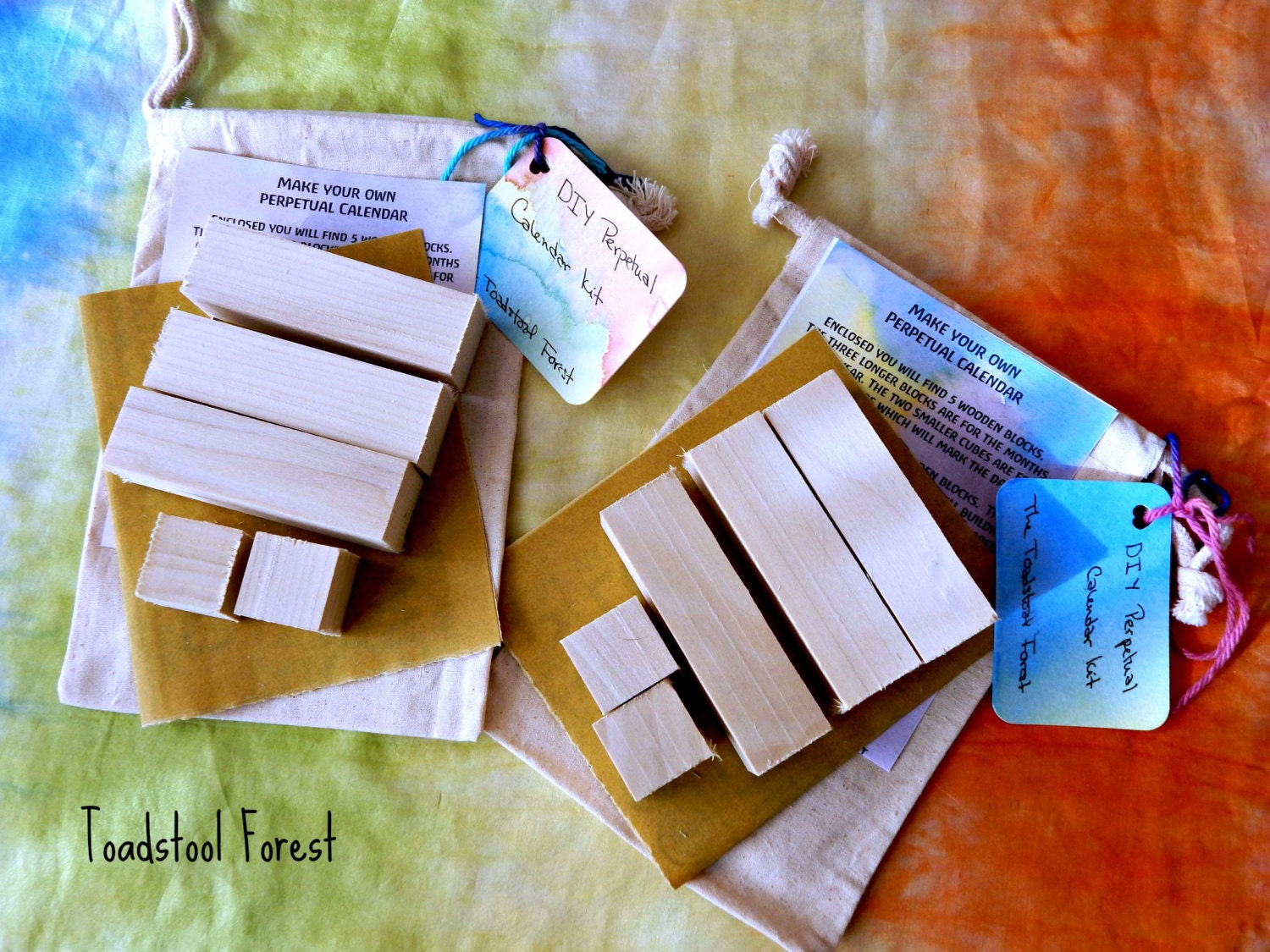 Calendar Blocks Diy : Diy perpetual calendar kit wooden block by thetoadstoolforest