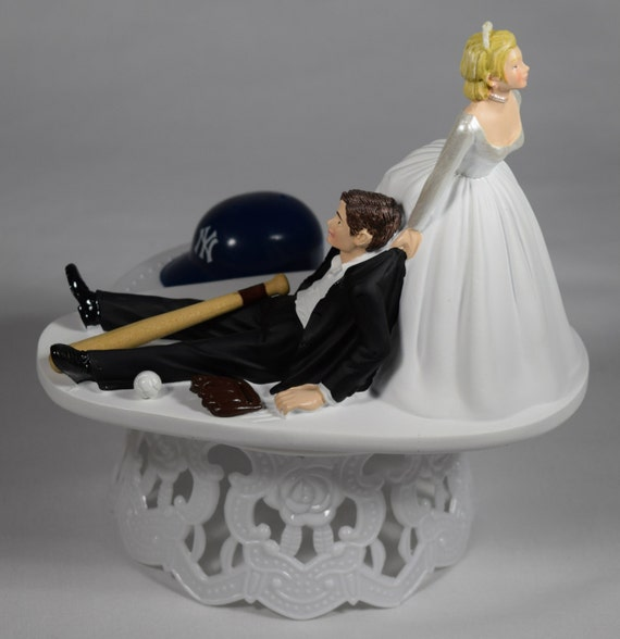 new york themed wedding cake toppers handmade wedding cake topper mlb themed new by 17834