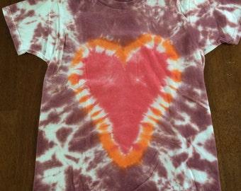 Red Heart Kid's Tie-dye Tshirt Size 6T