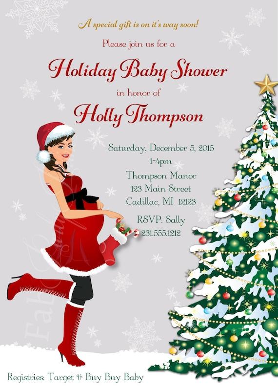 Christmas Baby Shower Invitation - Holiday Baby Shower ...