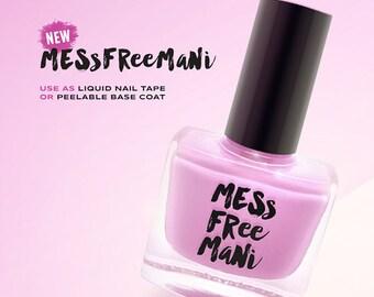 Mess Free Mani - Liquid Nail Tape 10ML | Liquid Nail Polish Barrier & Peel-Off Base Coat