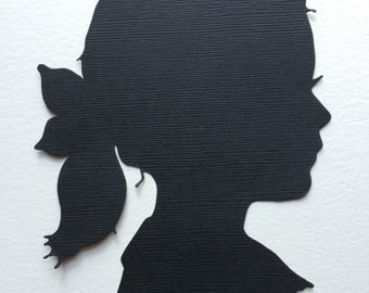 Hand Cut Custom Silhouette Portrait - Custom Family Portraits - Silhouette Cameo