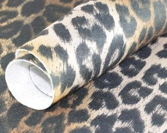 Craft Felt sheet . Brown Leopard 9'' x 12'' JR06996