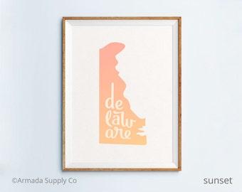 Delaware print - Delaware art - Delaware poster - Delaware wall art