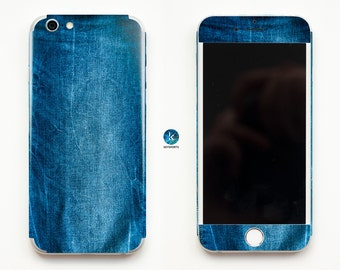 Jeans Story iPhone Skin iPhone decal iPhone sticker for iPhone 4, iPhone 4s, iPhone 5, iPhone 5s and iPhone 6 Denim Blue Jeans