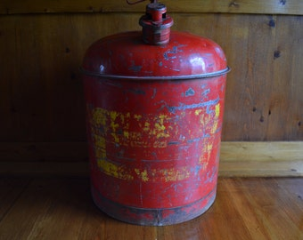 Vintage Eagle 5 Gallon Safety Gas Can