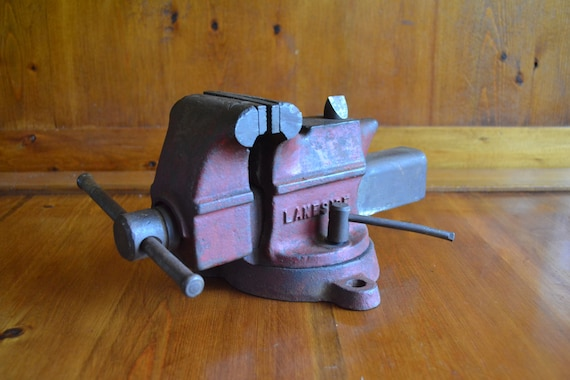 Vintage Heavy Duty Usa Made Lakeside Bench Vise