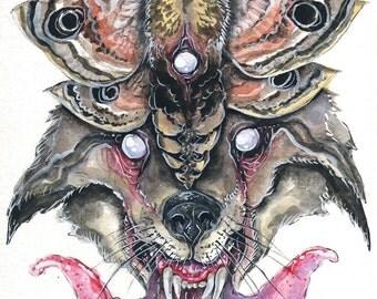 WolfMoth Print