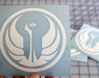 Jedi Order vinyl decal.. Star Wars Jedi Order decal.. Jedi Order sticker.. Jedi Order Insignia vinyl decal... Jedi Insignia sticker..