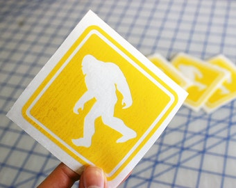 Bigfoot Crossing decal.. Sasquatch Crossing decal.. Bigfoot sign decal.. Sasquatch sign decal.. Bigfoot sticker.. Sasquatch sticker..