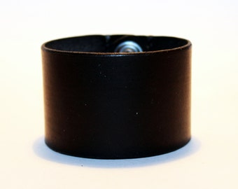 Black Leather Cuff! Handmade Bracelet! Great Gift!Black Cuff! Great Gift For Men! Great Gift For Women! Unique Handmade Gift!
