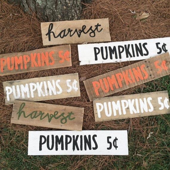 Pumpkins harvest rustic fall decor pumpkin sign
