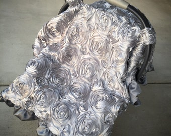 rosette, infant, carseat canopy tent