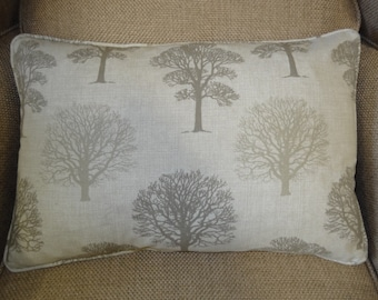 Pretty Tree Fabric Luxurious Feather Piped Cushion