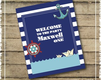 Nautical Party Door Sign - Printable