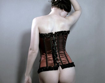Vintage Corset - Art Self Portrait - 8x10 signed photo print - butt, corset, vintage