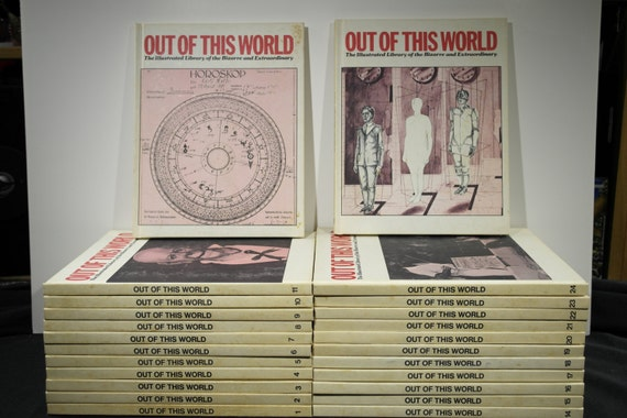 Vintage 24 Volume Set of Out of This World The Illustrated Library of the Bizarre and Extraordinary Books Rare Oddities