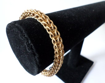 Solid Brass Full Persian Chainmail Bracelet - Jewellers Brass Chainmaille Steampunk Jewelry