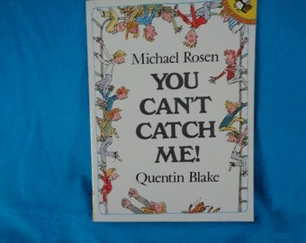 vintage 1982 You Can't Catch Me! book of poems by Michael Rosen