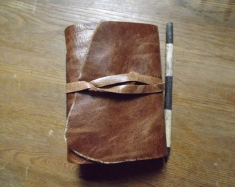 Art Journal Distressed Brown Leather