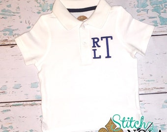Monogrammed Collared Shirt ONLY
