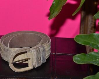 Vintage Estate Donna Karan Caiman Crocodile Belt