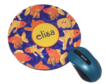 Personalized Mouse Pad Monogrammed Round Mouse Pad Personalized Mouse Pad Monogram Mousepad Computer Mouse Pads