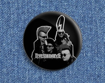 "2 1/4"" Dypsomaniaxe Psychobilly button"