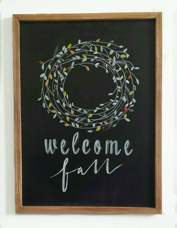Welcome Fall Decorative Chalkboard Home Decor By Deerandthyme