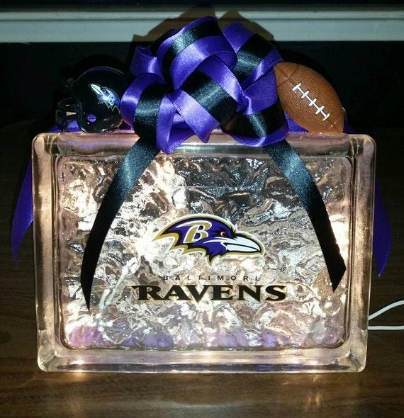 Baltimore Ravens Vintage Art Glass Night Light