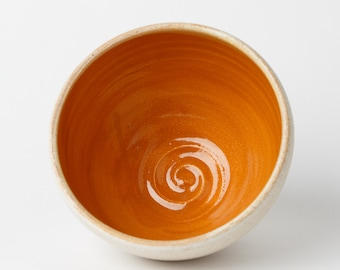 EVERYTHING BOWL // bowl - ceramic bowl - pottery bowl - ice cream bowl - everyday bowl - cereal bowl - soup bowl - goldenrod yellow - yellow